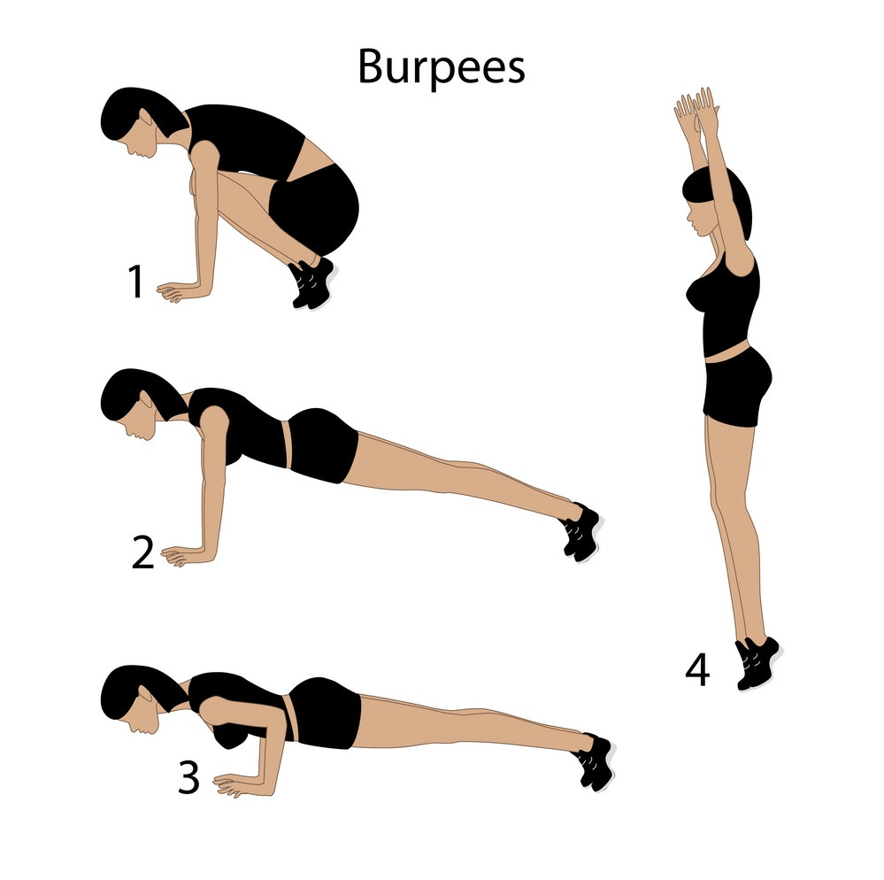 Burpee exercise for weight loss