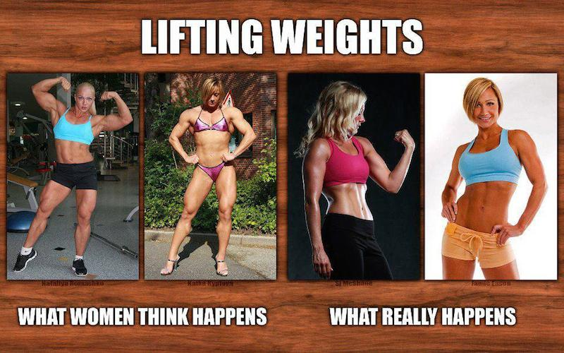 Will lifting weights make a woman bulky
